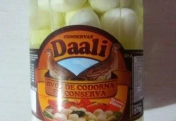 Ovos de Codorna em Conserva Daali