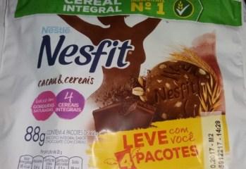 Biscoito Nesfit Cacau e Cereais Nestlé