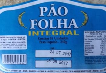 Pão Folha Integral