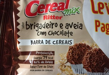 Barra de Cereais Sabor Brigadeiro e Aveia Com Chocolate Cereal Mix Ritter