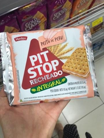 Biscoito Recheado Integral Peito de Peru Pit Stop Marilan