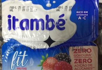 Iogurte Desnatado Frutas Vermelhas Fit Itambé