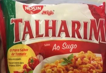 Talharim Sabor Ao Sugo Nissin Miojo