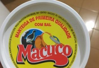 Manteiga de Primeira Qualidade Com Sal Macuco