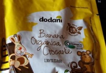 Banana Orgânica Crocante Liofilizada Dodani
