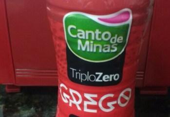 Iogurte Grego Morango Triplo Zero Canto de Minas