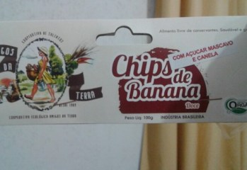 Chips de Banana Doce Orgânico Amigos da Terra