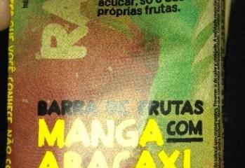 Barra de Frutas Manga Com Abacaxi Uncooked