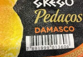 Iogurte Grego Pedaços Damasco Vigor