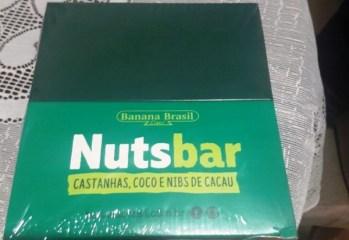 Barra Nuts Bar Castanhas, Coco e Nibs de Cacau Banana Brasil