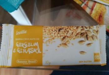 Barra Crocante de Gergelim e Girassol Levittá Banana Brasil
