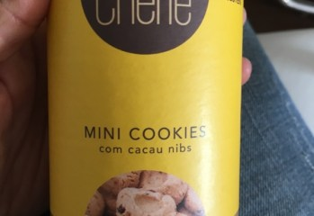 Mini Cookies com Cacau Nibs Bolô Chérie