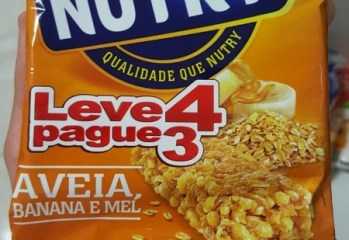 Barra de Cereal Aveia, Banana e Mel Nutry