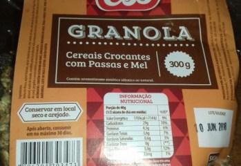 Granola Cereais Crocantes com Passas e Mel CBS