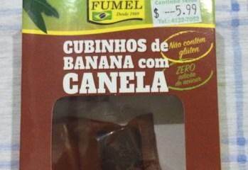 Cubinhos de Banana com Canela Fumel