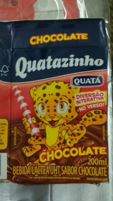 Bebida Lactea UHT Sabor Chocolate Quatazinho Quatá