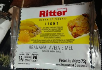 Barra de Cereais com Banana Aveia e Mel Light Ritter