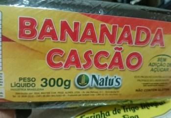 Bananada Cascão Sem Adição de Açúcar Natu's