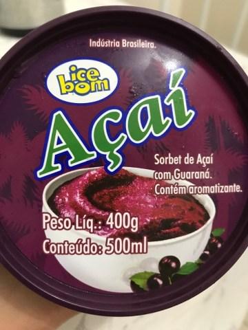 Sorbet de Açaí com Guaraná Ice Bom