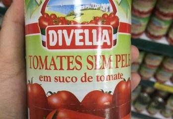 Tomates Sem Pele em Suco de Tomate Divella