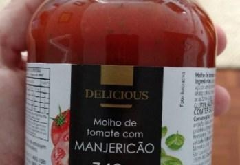 Molho de Tomate com Manjericão Delicious Dia