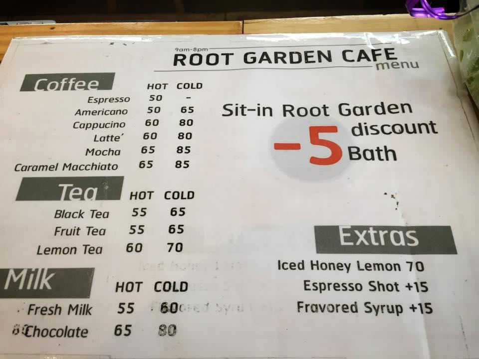 ROOT GARDEN CAFEメニュー