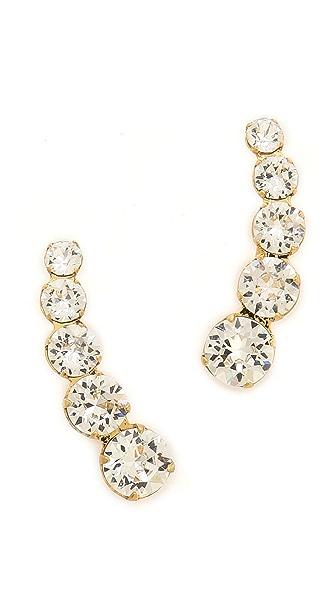 Ca & Lou Debutante Lobo Earrings - Crystal/Gold