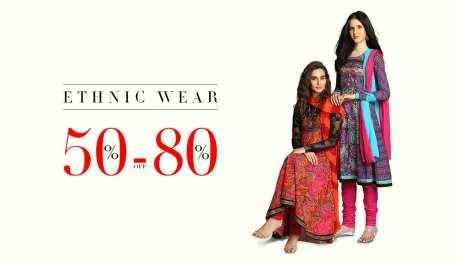 Ethnic Wear - 50% - 80% Off