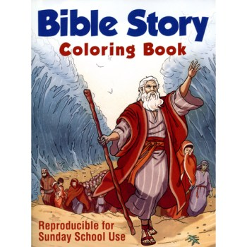 Bible Story Sunday school Coloring Book Reproducible
