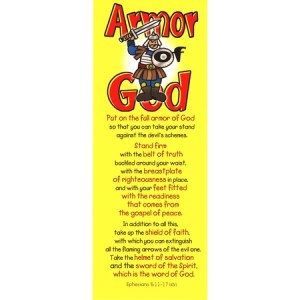 Armor of God bookmarks for kids
