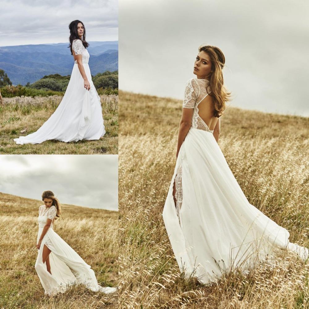 ivory lace bohemian wedding dress boho cheap boho wedding dresses zoom