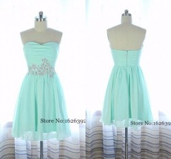 Preferential Sleeves 8th Grade Prom Dresses 2 Piece 2015 Mint Green Mini Chiffon Homecoming Gowns Heart Crystal Beaded Formal Party Font B Dress B 8th Grade Prom Dresses