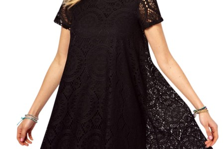 summer style women dress 2016 western style lace short sleeves o neck solid dresses plus big