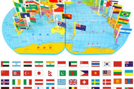 Map toy educational toys flag map of the world small three dimensional flag toy puzzle factory direct fast gumiabroncs Image collections