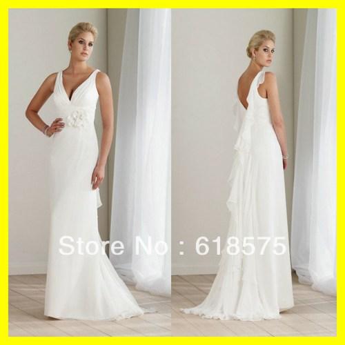 white summer dress for beach wedding white beach wedding dresses Casual White Summer V Neck Chiffon Sweep Length Beach Wedding Dress Sposadress