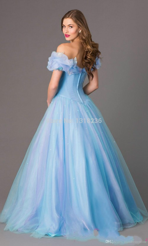 Medium Of Blue And White Wedding Dress