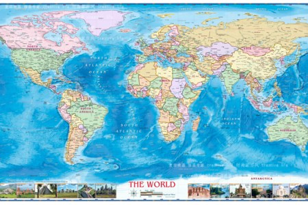 Map wall hangings large size plate ocean world map wall hanging frameless canvas map paintings for office home study gumiabroncs Images