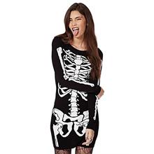 Fantasia de vestido de esqueleto