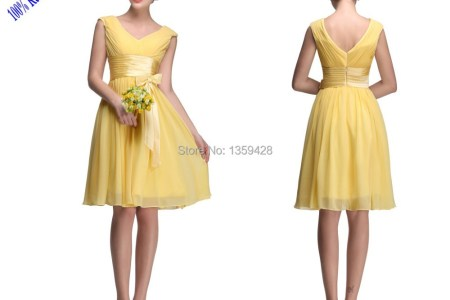 cheap formal country style bridesmaid dresses y 2015 party gowns beach maid of honor knee length