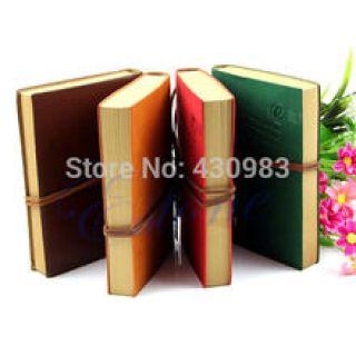 1 unid Classic Leather Vintage Retro Bound páginas en blanco diario diario bloc de notas Notebook(China (Mainland))