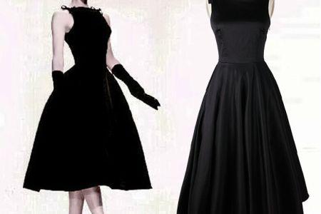 audrey hepburn vintage style 50s dresses little black tea length elegant cal dress women clothing free