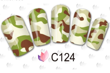 1 pcs charms camouflage stickers for nails 4 colors for select full wraps manicure tips diy