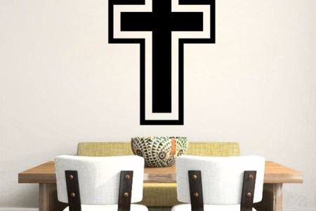 black christian cross art home decor vinyl wall sticker wallpaper wall decals