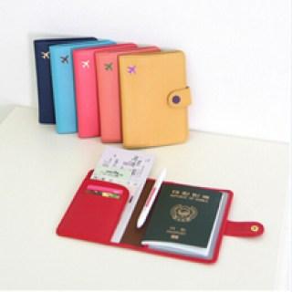 Navidad Mini pasaporte de viajes carpeta Unisex Multcolor marca cubre Business Card Id titular de la cartera del bolso YW237(China (Mainland))
