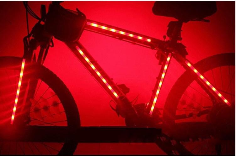 Cool bicycle frame decorative lights Mountain Bike Body Lights 14LED ...