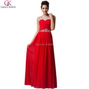 Vestido de formatura vermelho longo