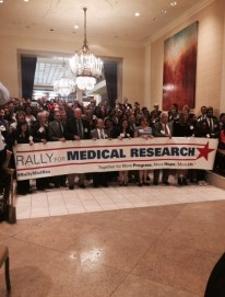 Rally for Medical Research advocates gather for a group photo before going to Capitol Hill.