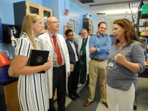 Jessica Hart, Deputy Director of the Southeast Region for Senator Ted Cruz (R-TX) met with the University of Texas Health Science Center of Houston School of Dentistry researchers