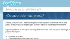 Desaparacion de Tweets