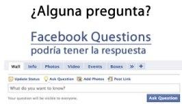 Facebook Questions podria tener su respuesta